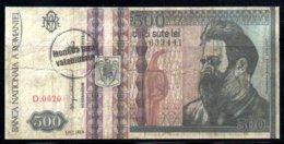 329-Roumanie Billet De Fantaisie De 500 Lei Specimen - Roumanie