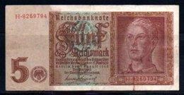 329-Allemagne Billet De 5 Reichsmark 1942 H826 - [ 4] 1933-1945 : Tercer Reich