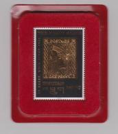 """BHOUTAN - 1996 - """"The Penny Black"""" Timbre Doré à L'or Fin 22 Carats, Neuf **, Dans Son étui En Velours Rouge. - Bhoutan"""