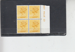 GRAN BRETAGNA  1976 - Unificato 783 (quartina) - Elisabetta - Nuovi
