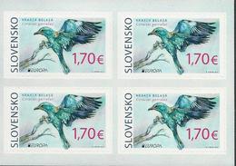 "ESLOVAQUIA /SLOVAKIA /SLOWAKIEN  -EUROPA 2019 -NATIONAL BIRDS.-""AVES -BIRDS -VÖGEL-OISEAUX""- BLOQUE De 4 - ADHESIVOS - 2019"