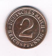 2 PFENNIG 1924 G  DUITSLAND /4383/ - 2 Renten- & 2 Reichspfennig