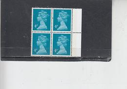 GRAN BRETAGNA  1979-80 - Unificato 900 (quartina) - Elisabetta - Nuovi