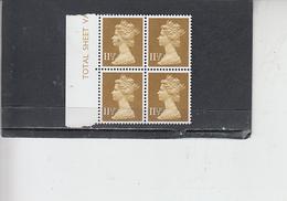 GRAN BRETAGNA  1979-80 - Unificato 901 (quartina) - Elisabetta - Nuovi