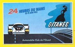 Autocollant 24 Heures Du Mans 1983 Gitanes Automobile Club Du Sud Ouest - Aufkleber