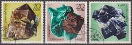 Minéraux - ALLEMAGNE DE L'EST - Ressources Minières - Zinnwaldite, Malachite, Halite - N° 1428-1429-1431 - 1972 - [6] République Démocratique