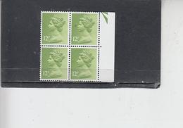GRAN BRETAGNA  1979-80 - Unificato 902 (quartina) - Elisabetta - Nuovi