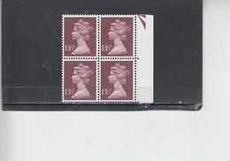 GRAN BRETAGNA  1979-80 - Unificato 904 (quartina) - Elisabetta - Nuovi