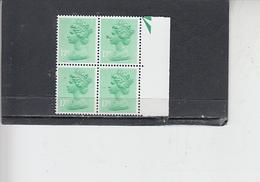 GRAN BRETAGNA  1979-80 - Unificato 906 (quartina) - Elisabetta - Nuovi