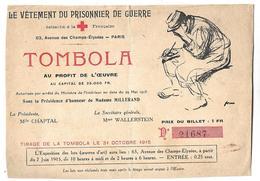 CPSM  En  GF  Rattachée  à  La  CROIX  ROUGE  Française   -   Le  Vêtement  Du  Prisonnier  De  Guerre   //    BE - Rode Kruis