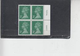 GRAN BRETAGNA  1980 - Unificato 936Aa (quartina) - Elisabetta - Nuovi