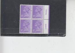 GRAN BRETAGNA  1980 - Unificato 936B (quartina) - Elisabetta - Nuovi