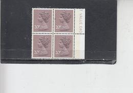 GRAN BRETAGNA  1980 - Unificato 936Ca (quartina) - Elisabetta - Nuovi