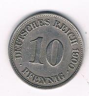 10 PFENNIG 1900 A DUITSLAND /4395/ - [ 2] 1871-1918: Deutsches Kaiserreich