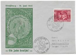 Propaganda  - Enveloppe éditée Pour La 1 ère Année De Réintégration De Strasbourg à L'Empire Allemand - Allemagne