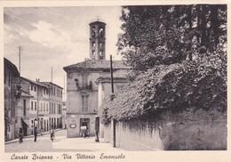 Cartolina Carate Brianza (Monza) - Via Vittorio Emanuele - Monza