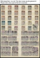 SAMMLUNGEN, LOTS O, Reichhaltiges Dublettenbuch Von 1854 Bis Ca. 1965, Fast Nur Gestempelt, Auch Etwas Indien Und Britis - Grossbritannien