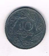 10 GROSZY 1938-1939 (gubernator) POLEN /4400/ - Pologne