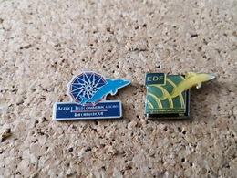 2 PINS EDF  DAUPHIN TELECOMMUNICATION - EDF GDF