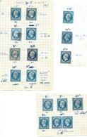 FRANCE - CLASSIQUES : PETITE ETUDE DU N° 14 I Et II. Certaines Nuances Rares. B à TB. - 1852 Louis-Napoleon