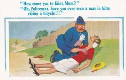 HOW COME YOU TO FAINT MUM ?  POLICEMAN.  DNALD McGILL - Comics