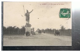 CPA-45-1911-GIEN-L'AVENUE DE LA GARE-ANIMEEENFANTS ET ATTELAGES- - Gien