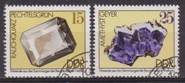 Pierres Précieuses - Minéraux - ALLEMAGNE DE L'EST - Quartz Fumé, Améthyste - N° 1688-1690 - 1974 - [6] République Démocratique
