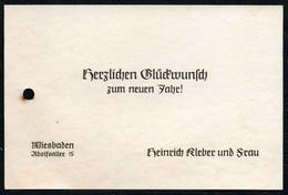 A2810 - Visitenkarte - Glückwunschkarte Heinrich Kleber Wiesbaden - Visitenkarten