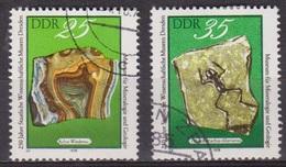 Fossiles - Minéraux - ALLEMAGNE DE L'EST - Agate - Grenouille Fossilisée - N° 2040-2041 - 1978 - [6] République Démocratique