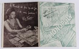 Livret Publicitaire Jeu Du Monopoly Fait Rage En Amérique L'édition Française Est Parue Miss France Emile Dibon Rennes - Group Games, Parlour Games