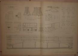 Plan Du Viaduc De Marly Le Roi. Chemin De Fer De L'Etang La Ville à Saint Cloud. 1884. - Obras Públicas