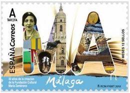 ESPAGNE SPANIEN SPAIN ESPAÑA  2018 12 MONTHS 12 STAMPS 12 MESES, 12 SELLOS. MÁLAGA MNH ED 5193 MI 5276 YT 4981 - 1931-Today: 2nd Rep - ... Juan Carlos I