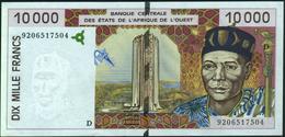 """WEST AFRICAN STATES - 10.000 Francs 1992 {Mali """"D""""} AU-UNC P.414 Da - Malí"""