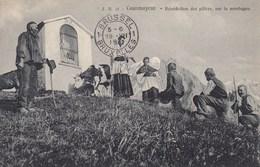 COURMAYEUR-AOSTA-BENEDICTION DES PATRES SUR LA MONTAGNE -VIAGGIATA IL 19-7-1911 - Aosta