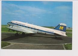 Vintage Rppc KLM Con Moormanair Douglas Dc-3 Aircraft @ Schiphol Airport - 1919-1938: Between Wars