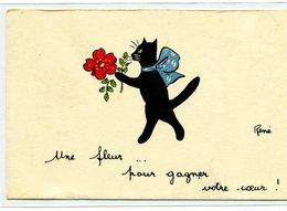 CHATS  - Chat Noir: Une Fleur Pour Gagner Votre Coeur  ! -  Illustrateur: René - Katten