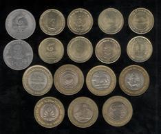 Lot De 17 Monnaies Commémoratives Inde / India Toutes Différentes - Inde