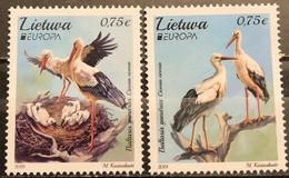 Lithuania, 2019, Mi:1310/11 (MNH) - Storks & Long-legged Wading Birds