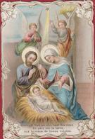 Image Pieuse Santini Holy Family Weihnachtskrippe Nativity Scene Manger Kribbe Crib De Noël Presepio Presepe Belenismo - Devotieprenten