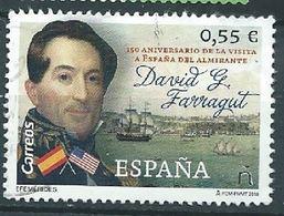 ESPAGNE SPANIEN SPAGNA SPAIN ESPAÑA 2018 ALMIRANTE DAVID G FARRAGUT USED SLIMMED DOWN ADELGAZADO ED 5231 MI 5260 YT 4965 - 2011-... Afgestempeld