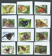 Tonga Niuafo'ou 2012 Butterfly Imperforate Set Of 12 MNH Wide Margins - Tonga (1970-...)