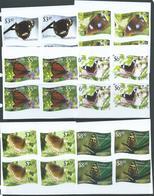Tonga Niuafo'ou 2012 Butterfly Imperforate Set Of 12 MNH Blocks Of 4 - Tonga (1970-...)