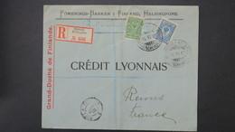 Finlande 1910 Lettre Recommandé  Banken Helsingfors Pour Credit Lyonnais De Reims, Registered Cover 1910 To France - Briefe U. Dokumente