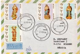 Postal History Cover: Brazil Set On Cover - Christmas