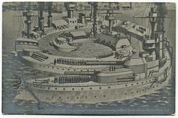Warship Marine Kriegsschiff Foto-AK H.M.S. Marine Das Nächste Englische Kriegsschiff Ist So Groß,daß Es Nur In Zusammeng - Guerra