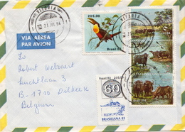 Postal History Cover: Brazil Set On Cover - Stamps