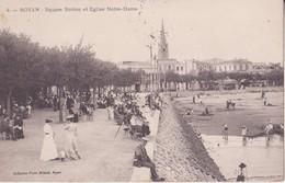 CPA - 4.  ROYAN - Square Botton Et église Notre Dame - Royan