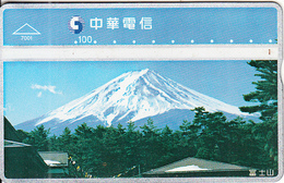 TAIWAN - Volcano, Chunghwa Telecard(7001), CN : 634M, Used - Vulkane