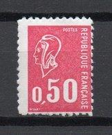 - FRANCE Variété N° 1664f ** - 50 C. Carmin-rose Marianne De Béquet 1971 - FAUX D'AUBERVILLIERS - Cote 70 EUR - - Varieties: 1970-79 Mint/hinged