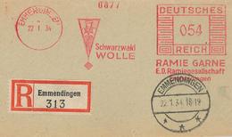 Frankotyp C 1934 Emmendingen Schwarzwald Wolle Ramie Garne Ramiegesellschaft Tracht - Germany